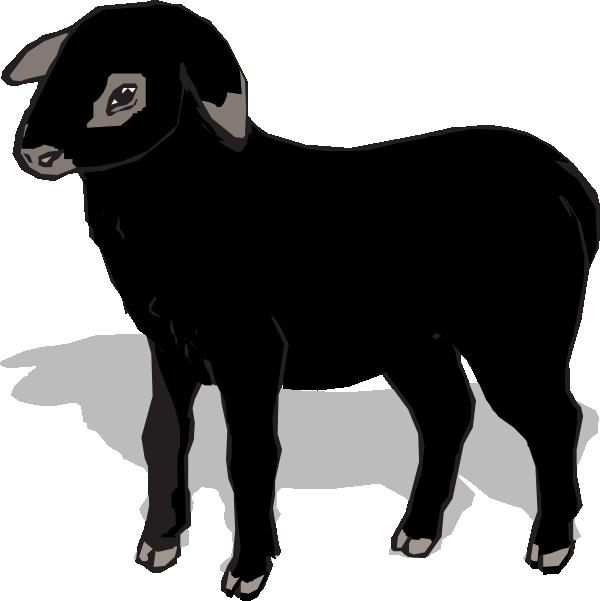 600x601 Black Lamb Clip Art