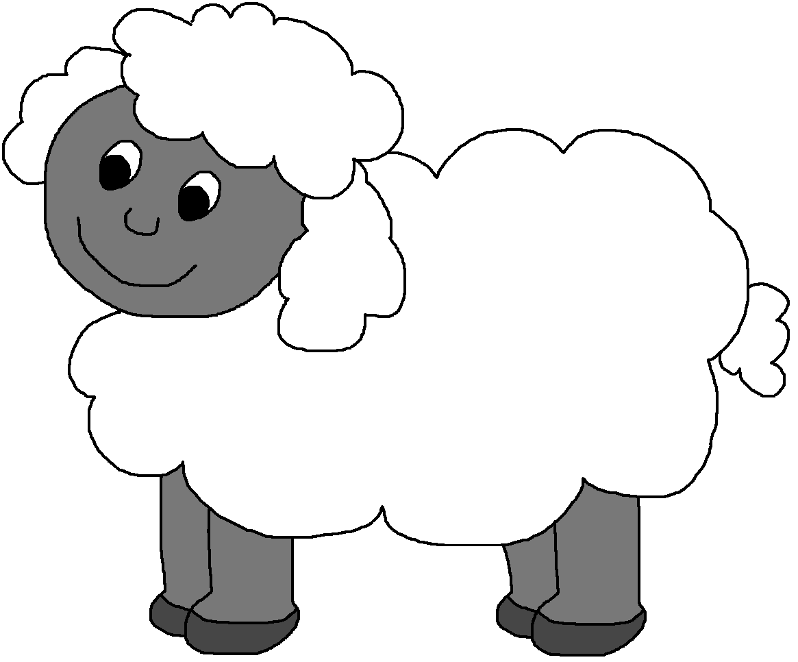 1165x966 Black And White Black Sheep Clipart