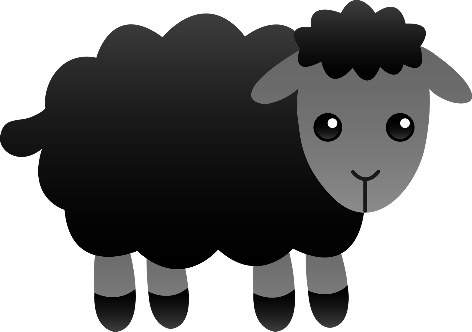 1600x1128 Free Black Sheep Clipart