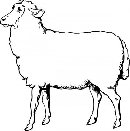 420x425 Sheep Clipart Black And White Clipart Panda