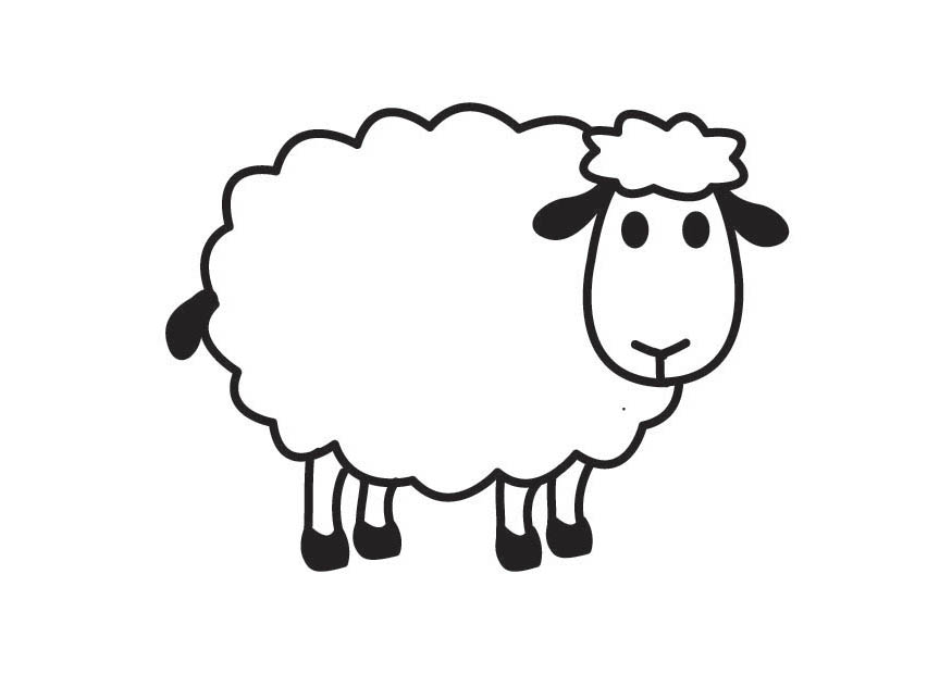 875x620 Sheep Black And White Sheep Lamb Clipart Black And White Free