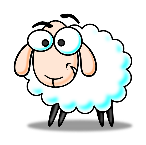 555x551 Sheep Lamb Clipart Black And White Free Clipart Images