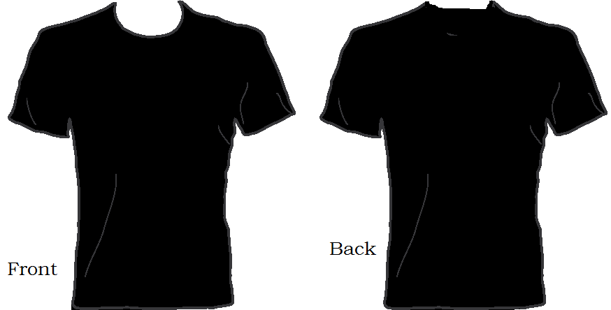 874x444 Image Of Black T Shirt Clipart