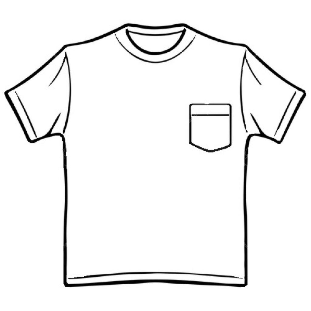1024x1024 Shirt Clipart Black N White