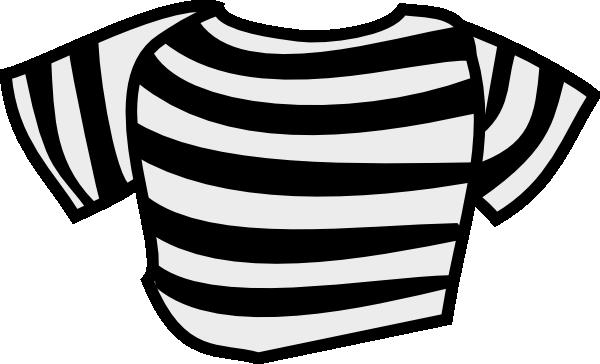 600x364 Black Striped Shirt Clip Art