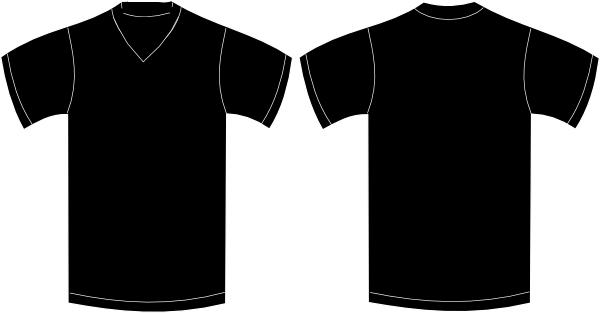 600x313 V Neck Black Tshirt Clip Art