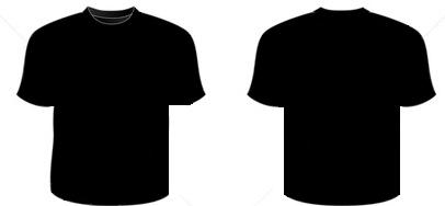 406x188 T Shirt Front And Back Clipart