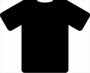 350x284 Black T Shirt Clipart