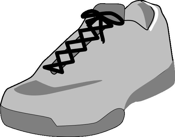 600x470 Shoe Outline White Clip Art