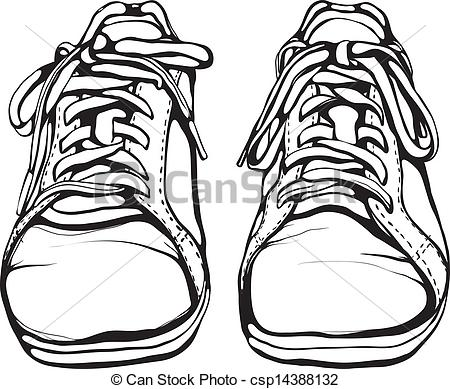 450x389 Shoes Clipart Black And White