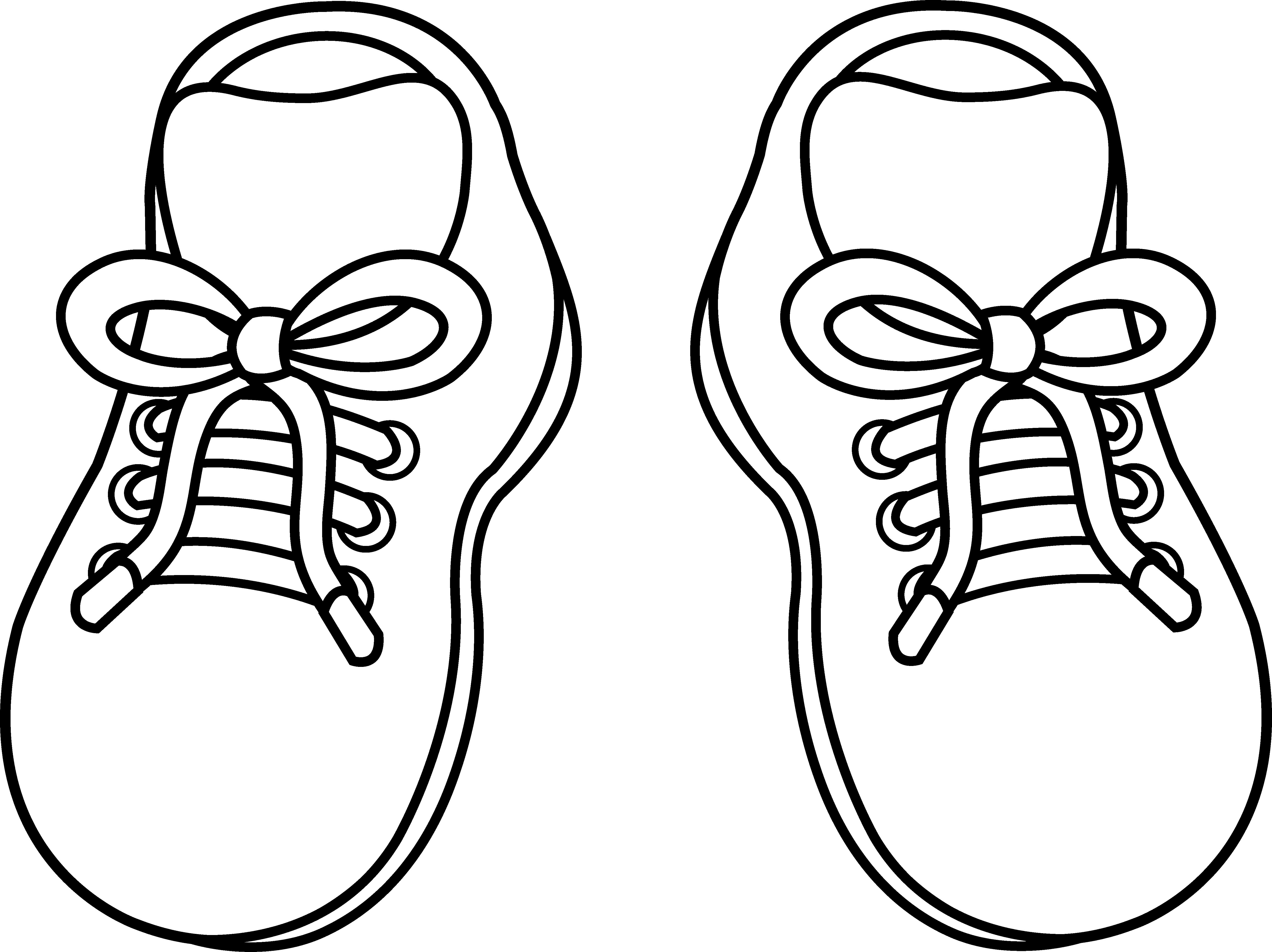 5540x4147 Tennis Shoe Pair Of Childrens Shoes Free Clip Art