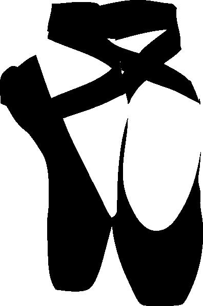 396x598 Black Pointe Shoe Clip Art
