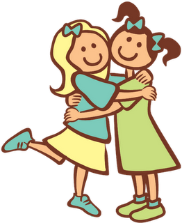 262x320 Two Sisters Hugging Clipart (11+)