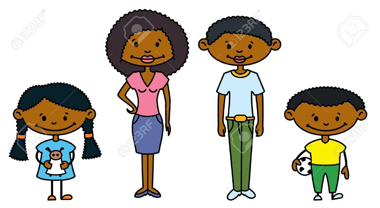 1300x713 African American Siblings Clipart