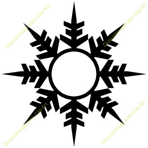 500x500 Free Winter Snowflake Clipart Custom Clip Art Stencils