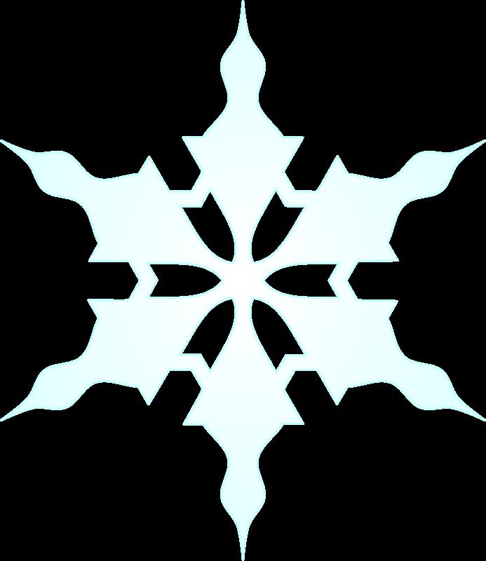 693x800 Snowflake Clipart Free