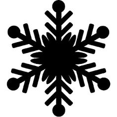 236x236 Snowflake Silhouette Clip Art