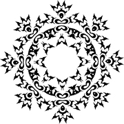 180x180 Beautiful Snowflake Clip Art And Coloring Pages That You Can Print
