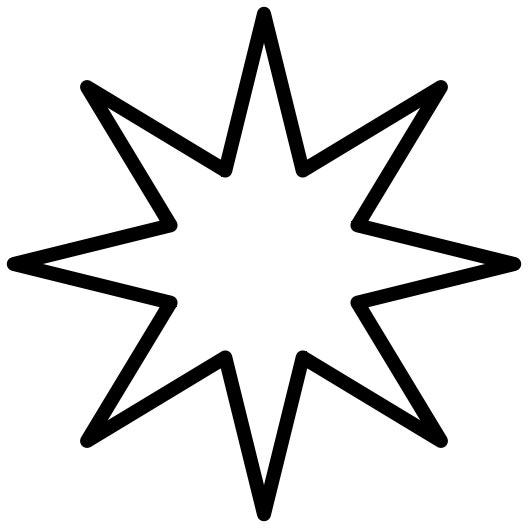 528x528 Eight Point Star