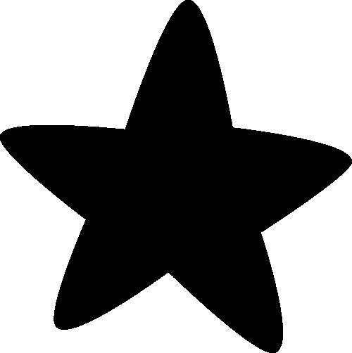 500x502 Image Of Black Stars Clipart