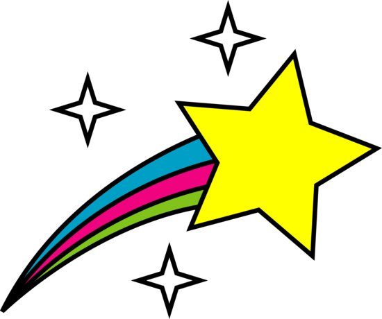 550x460 Shooting Star Black And White Clipart