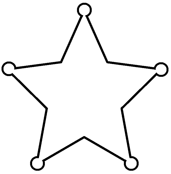 682x693 Western Star Border Clip Art