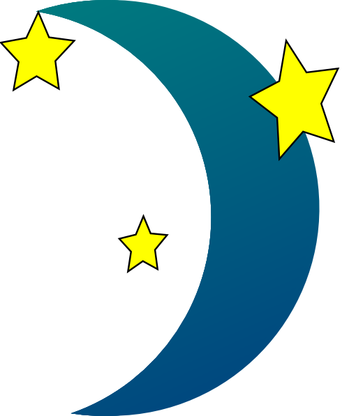 510x597 Black Stars And Moon Clipart