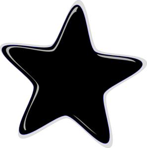 297x298 Black Star Clip Art Clipart Image