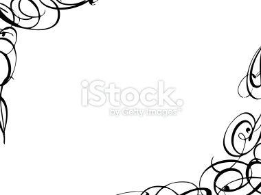 Black Swirl Border Clipart