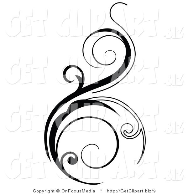 Black Swirls Clipart