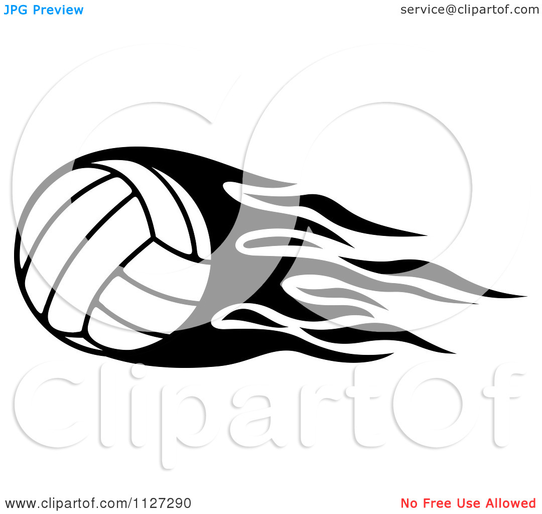 1080x1024 Free Flaming Volleyball Clipart