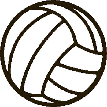 350x349 Free Volleyball Clipart Black And White Free