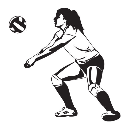 550x550 Image Of Playing Volleyball Clipart
