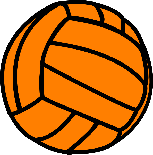 594x598 Orange Volleyball Clip Art