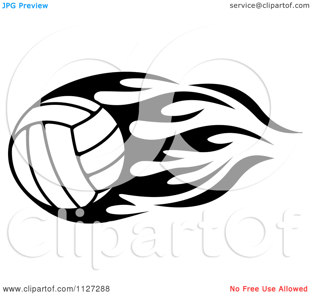 1080x1024 Volleyball Black And White Clipart