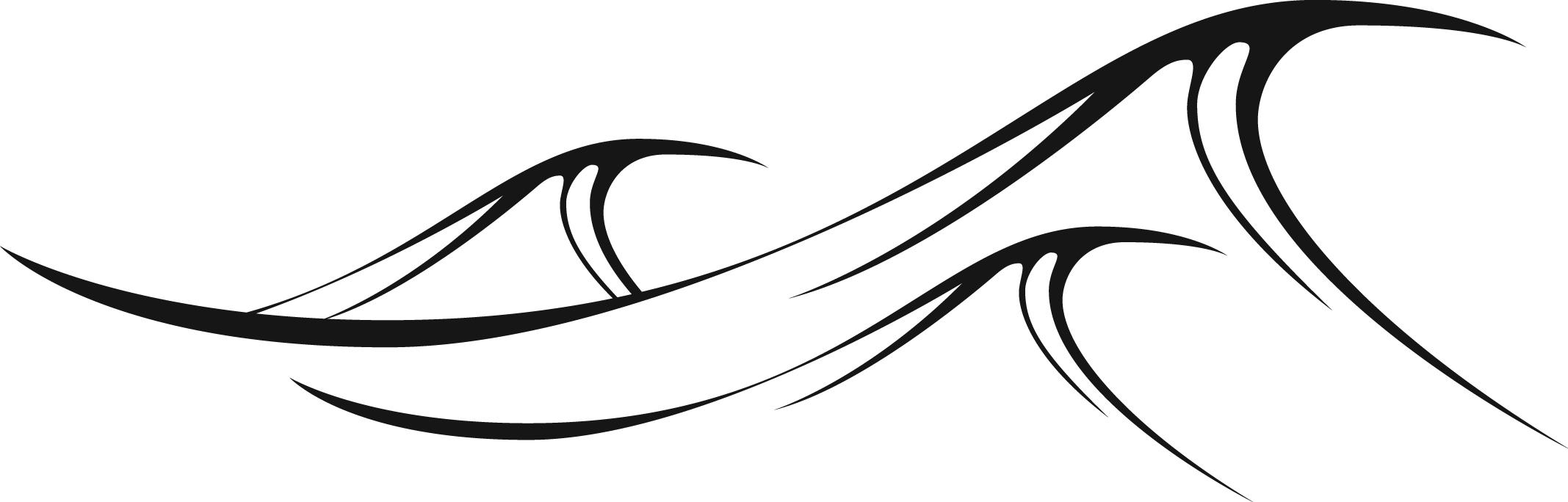 Wave white. Black clipart free download
