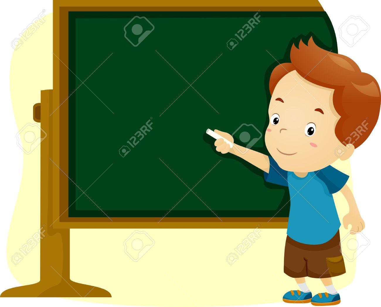 1300x1049 Blackboard Clipart Boy