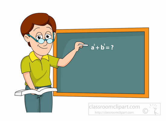 550x400 Blackboard Clipart Male Teacher