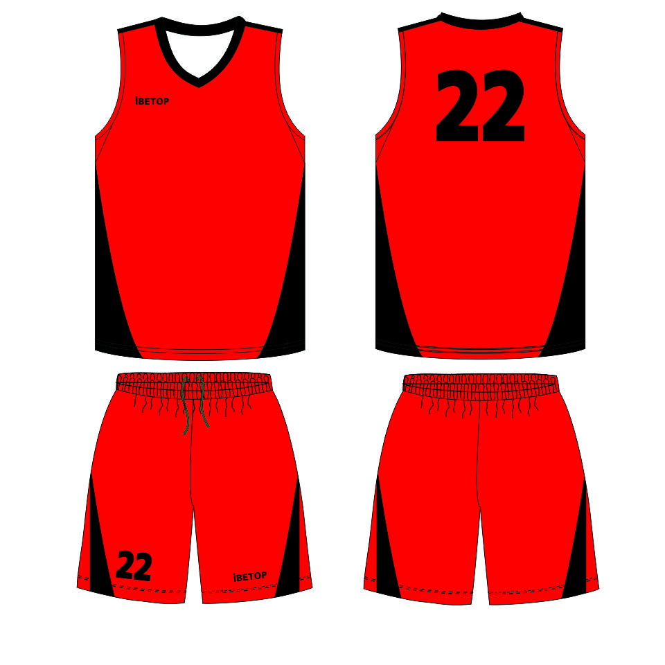 960x960 Red Basketball Jersey Uniform, Red Basketball Jersey Uniform