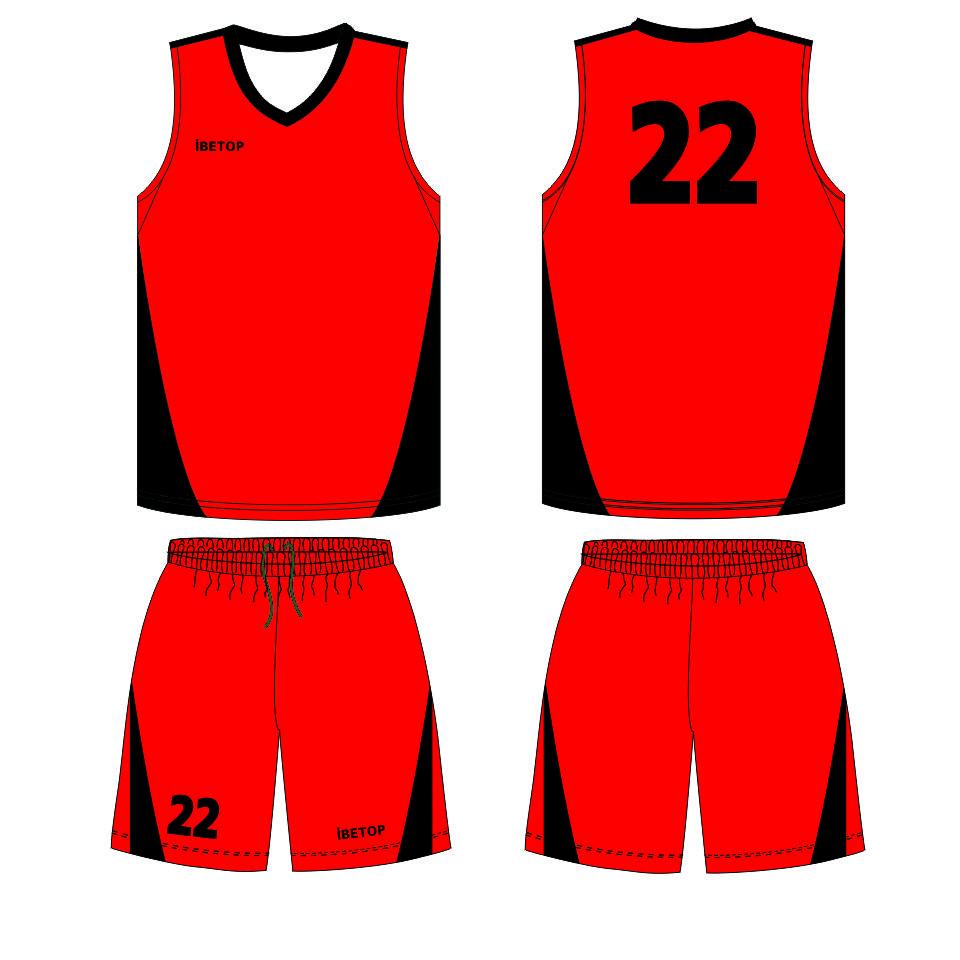 960x960 Red Basketball Jersey Uniform, Red Basketball Jersey Uniform
