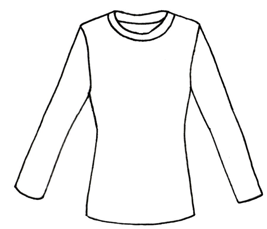 900x773 Shirt Colouring Template Plain White T Shirt Png Clipart Best.