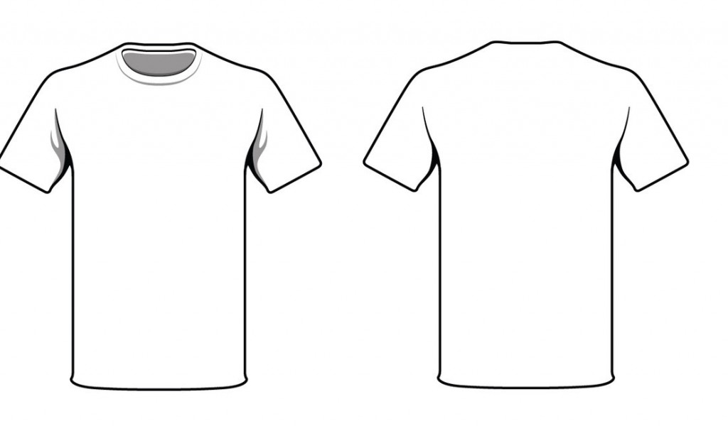 1024x600 White Shirt Front Back Clipart
