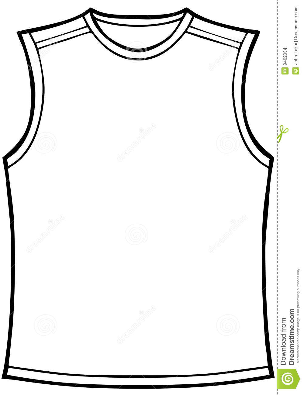 Blank Basketball Jersey Clipart