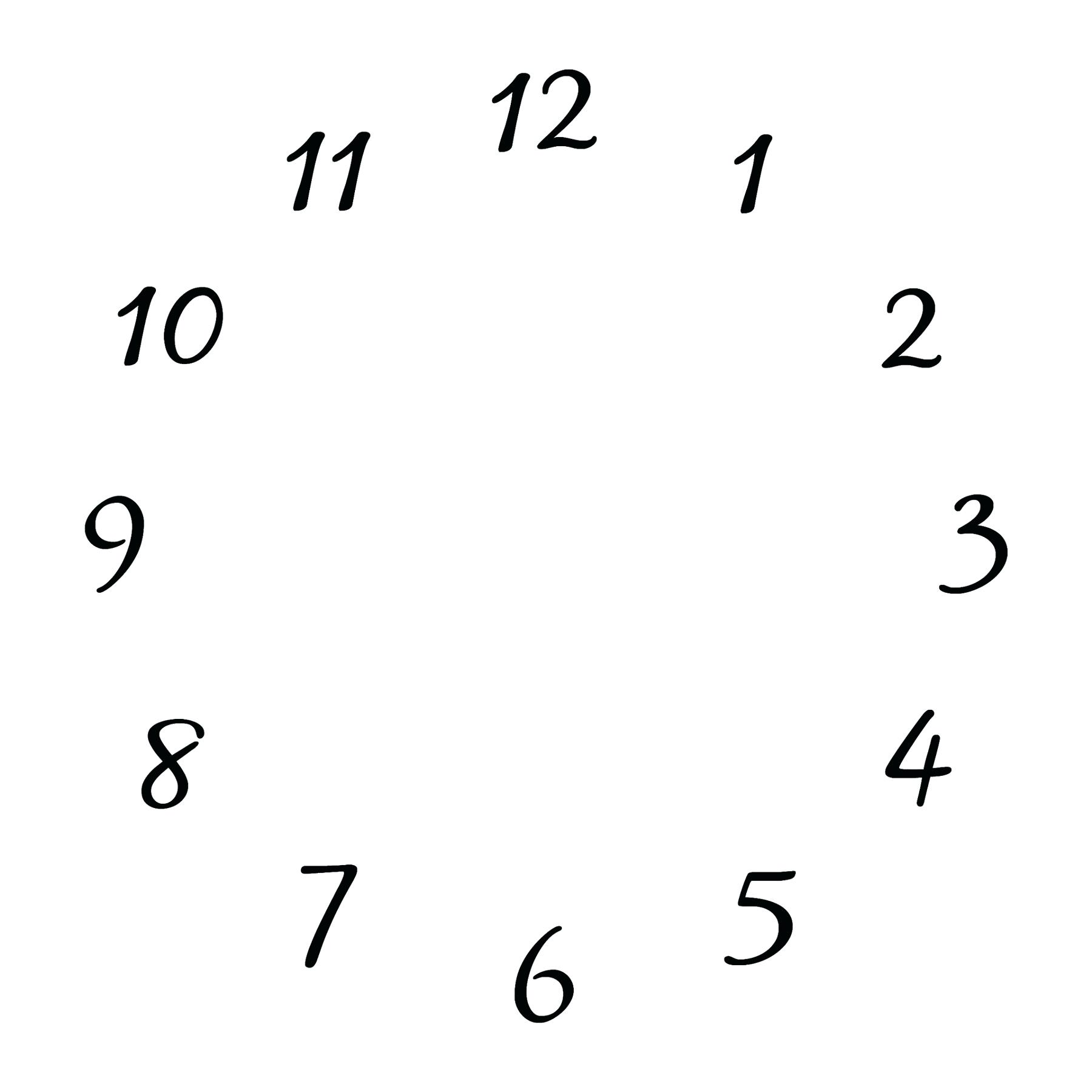 Blank Clock Face Clipart Free Download On Clipartmag