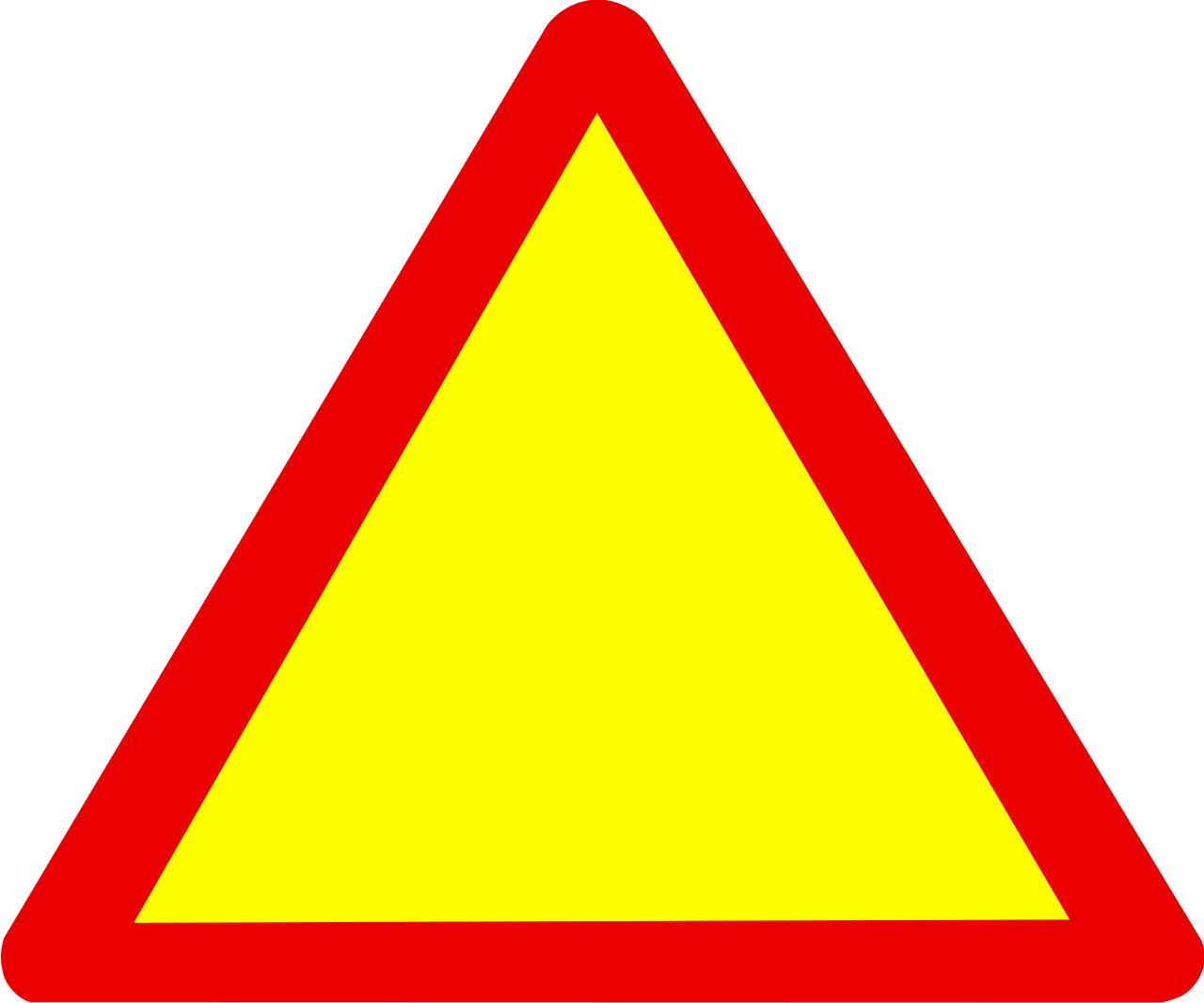 1280x1066 Caution Sign Blank Warning Sign Clipart Kid