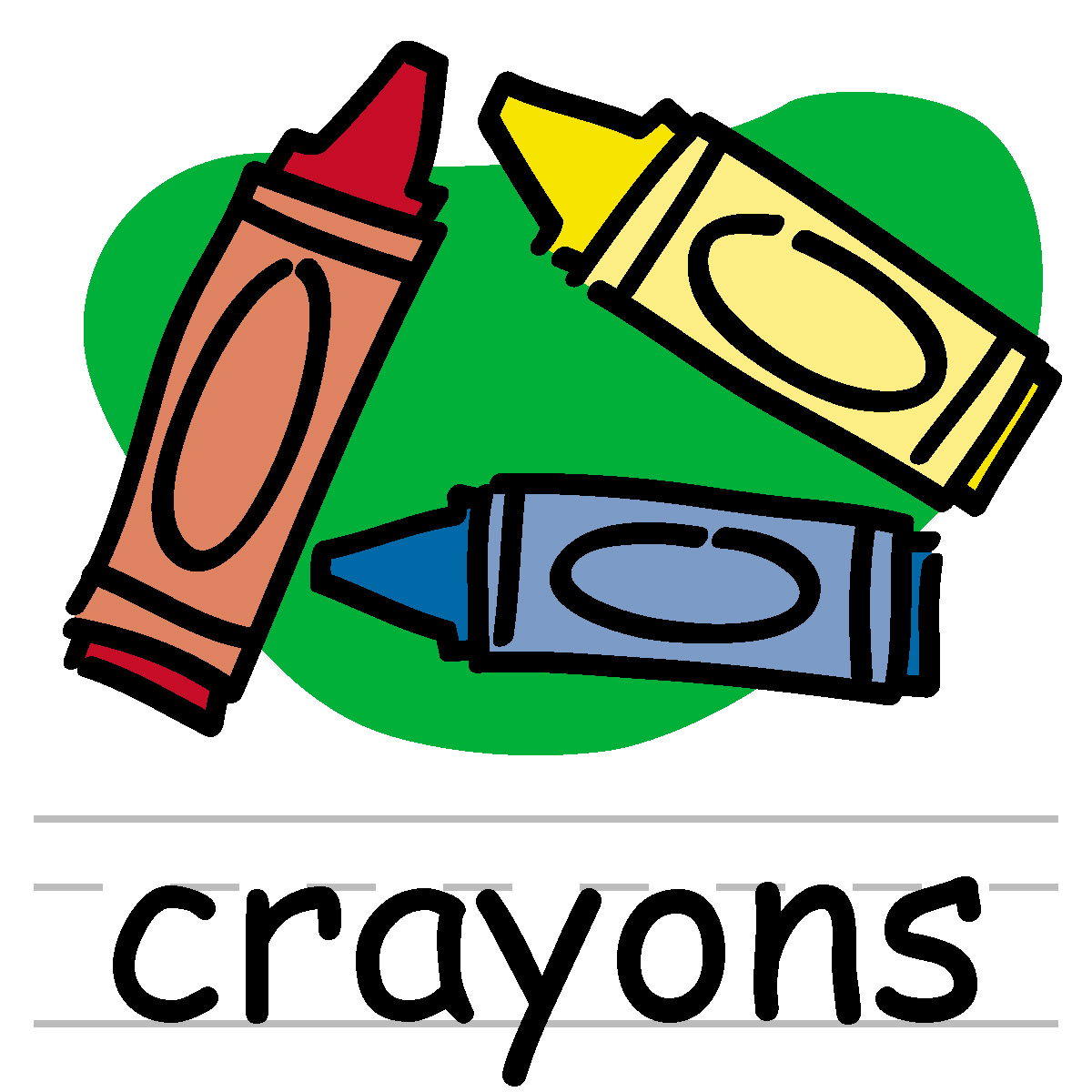 1200x1200 Crayon Clip Art Black And White Free Clipart Images