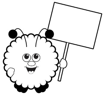 350x317 Warm Fuzzy With Blank Sign Warm Fuzzies Clipart Set By Dancing