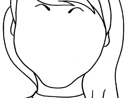 440x330 Blank Face Coloring Page See Best Photos Of Blank Face Outline