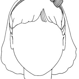 268x268 Blank Face Outline Clipartsco Coloring Page Face Outline