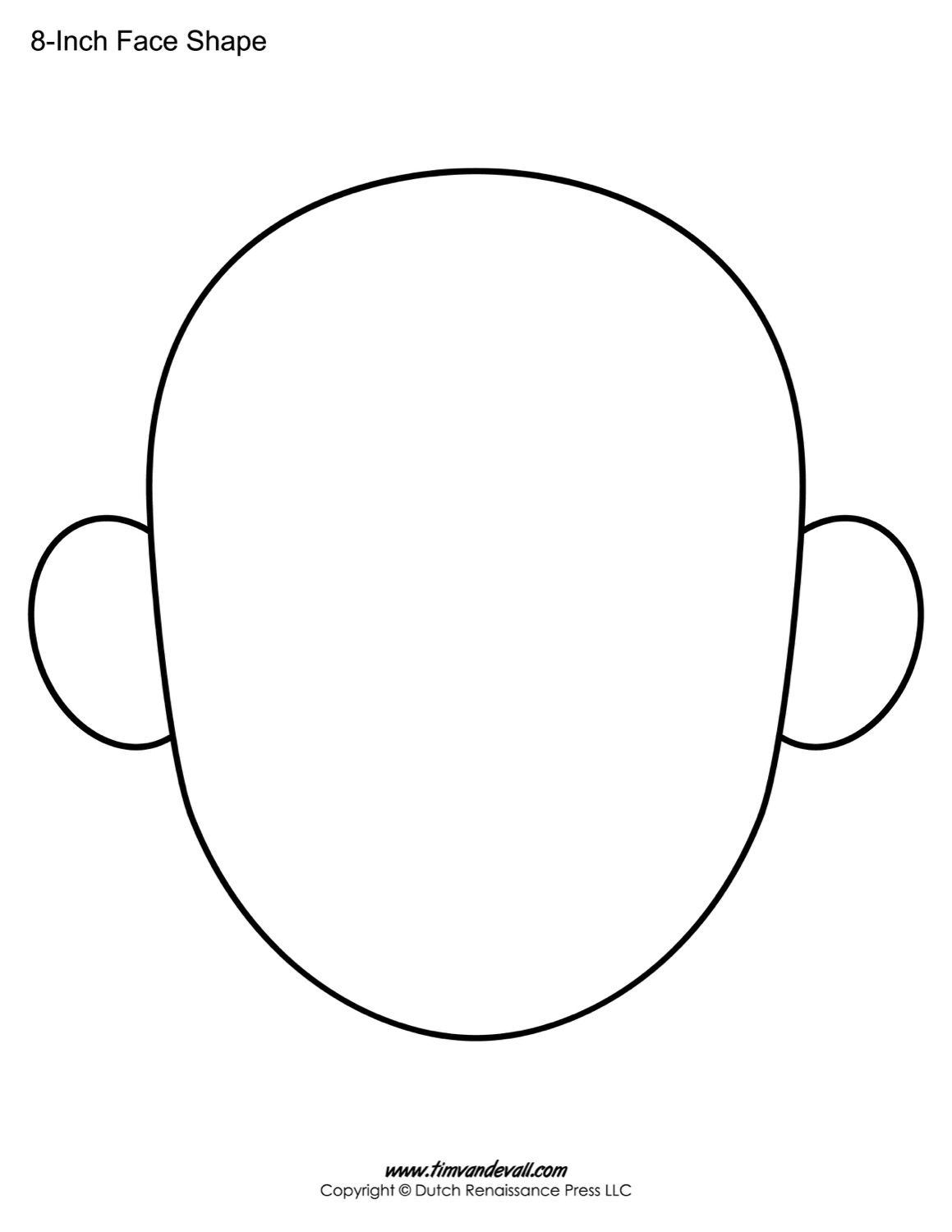 1159x1500 Blank Face Templates Printable Face Shapes For Kids